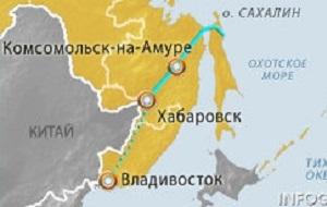 Находящийся в процессе строительства трубопровод, задача которого — транспортировка газа с Сахалина в Приморский край и в регионы Дальнего Востока