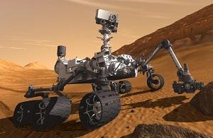 Марсианская научная лаборатория (МНЛ) (англ. Mars Science Laboratory, сокр. MSL), «Марс сайенс лэборатори» — миссия НАСА, в ходе выполнения которой на Марс был успешно доставлен и эксплуатируется марсоход третьего поколения «Кьюрио́сити» (англ. Curiosity, МФА: [ˌkjʊərɪˈɒsɪti] — любопытство, любознательность). Марсоход представляет собой автономную химическую лабораторию в несколько раз больше и тяжелее предыдущих марсоходов «Спирит» и «Оппортьюнити». Аппарат должен будет за несколько месяцев пройти от 5 до 20 километров и провести полноценный анализ марсианских почв и компонентов атмосферы. Для выполнения контролируемой и более точной посадки использовались вспомогательные ракетные двигатели