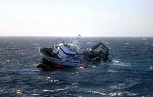 Морская катастрофа, произошедшая 2 апреля 2015 года около 4:12 по сахалинскому времени (1 апреля в 21:12 по московскому времени, 18:12 по всемирному координированному времени) в Охотском море в 150 милях южнее Магадана. В результате крушения 62 человек погибли, 7 пропали без вести. 63 рыбака были спасены: они все получили разные степени переохлаждения организма