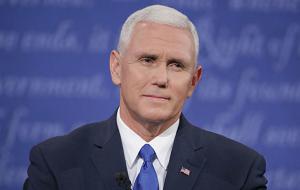 Избранный 48-й вице-президент США, представляющий Республиканскую партию. Вступит в должность вице-президента США 20 января 2017 года. Действующий губернатор штата Индиана с 14 января 2013 года. Ранее представлял штат в Конгрессе