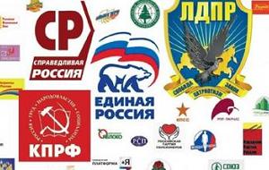 Политические партии России — объединенная группа людей, непосредственно ставящая перед собой задачи овладеть политической властью в государстве или принять в ней участие через своих представителей в органах государственной власти и местного самоуправления.