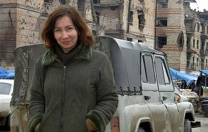 Российская правозащитница, журналистка, сотрудница представительства Правозащитного центра «Мемориал» в Грозном. Её убийство 15 июля 2009 года вызвало общественный и политический резонанс