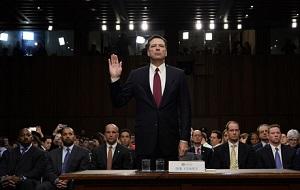 Выступления экс-директора ФБР Джеймса Коми на слушаниях в комитете сената США по разведке