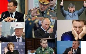 Рейтинг публичных фигур, которые теоретически могли бы рассматриваться как возможные преемники Владимира Путина