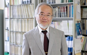 Японский учёный-молекулярный биолог. Изучает лизосомальный путь аутофагии. Член EMBO. 3 октября 2016 года получил Нобелевскую премию по медицине и физиологии «за открытие механизмов аутофагии»